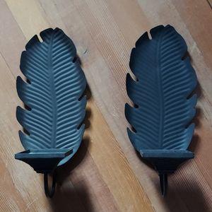 Partylite Leaf Sconces